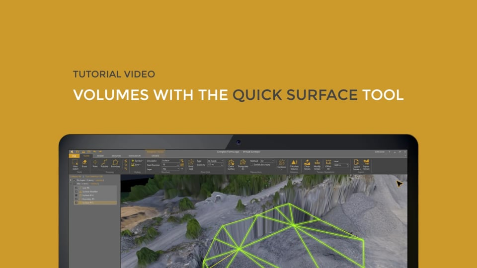 Volume Calculations with the Quick Surface Tool